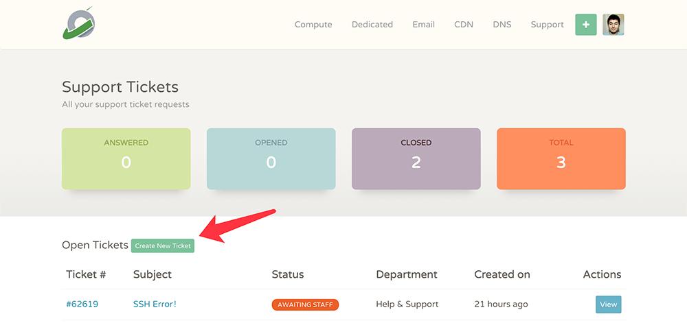 cloudcone创建工单