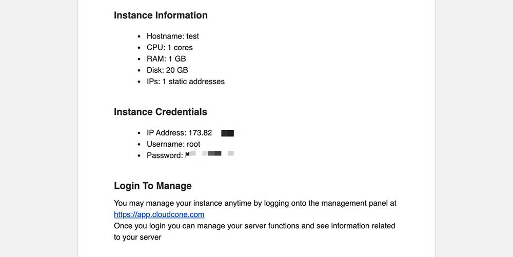 cloudcone购买成功电子邮箱