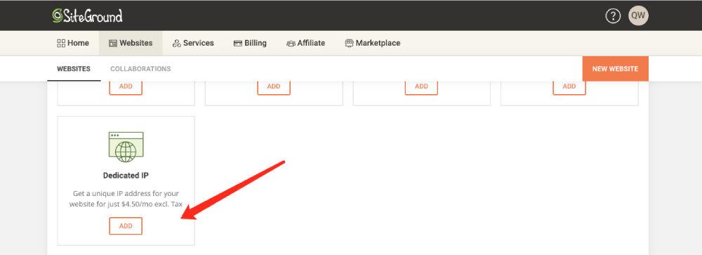 siteground主机添加独立IP