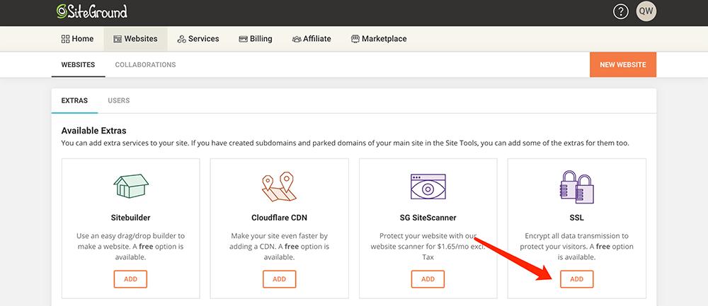 siteground主机添加SSL证书服务