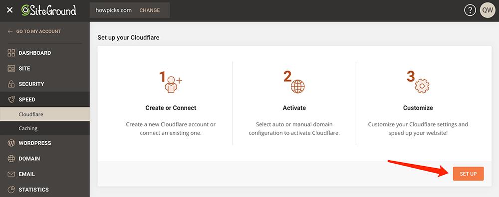 sitegroung配置CDN加速服务