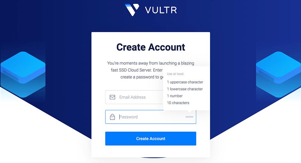 vultr创建账户