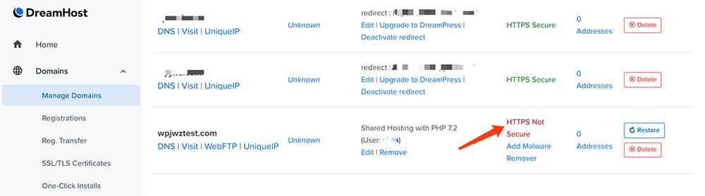 DreamHost主机教程开启SSL