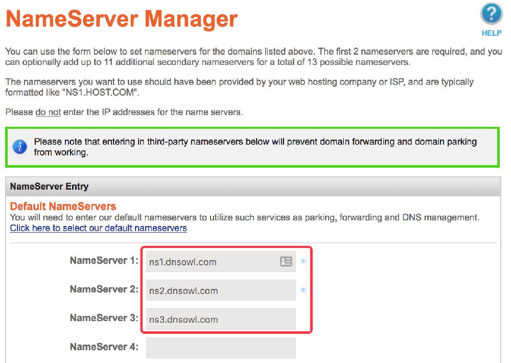Namesilo域名DNS修改页面