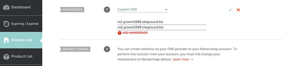 namecheap域名添加DNS解析