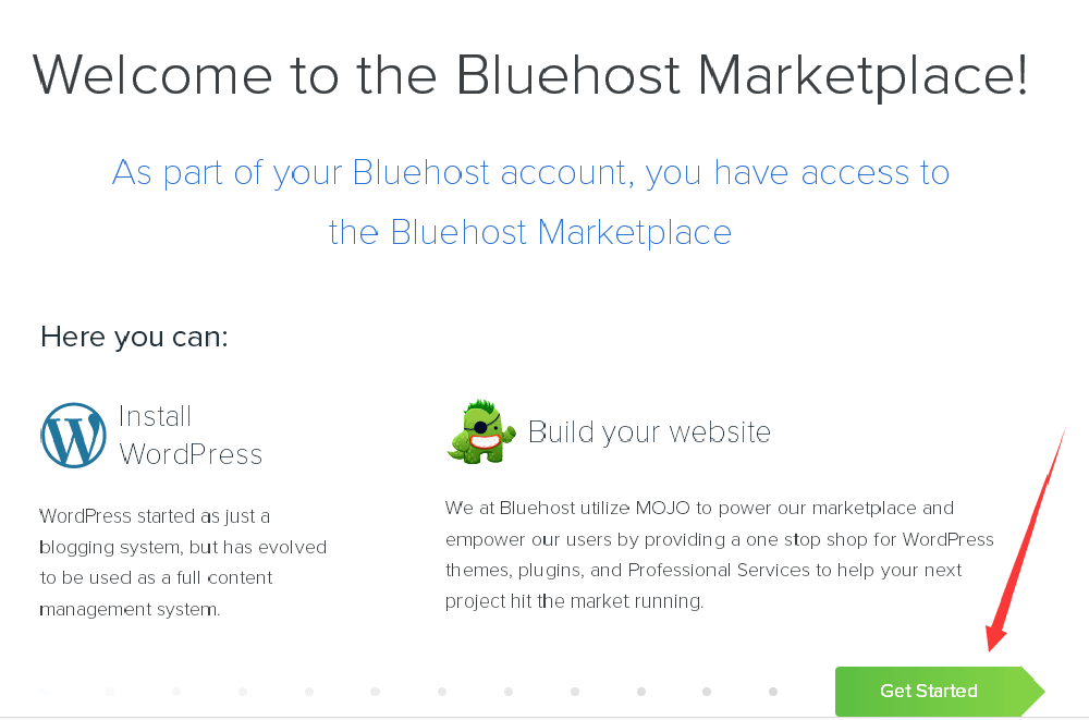 bluehost主机安装wordpress
