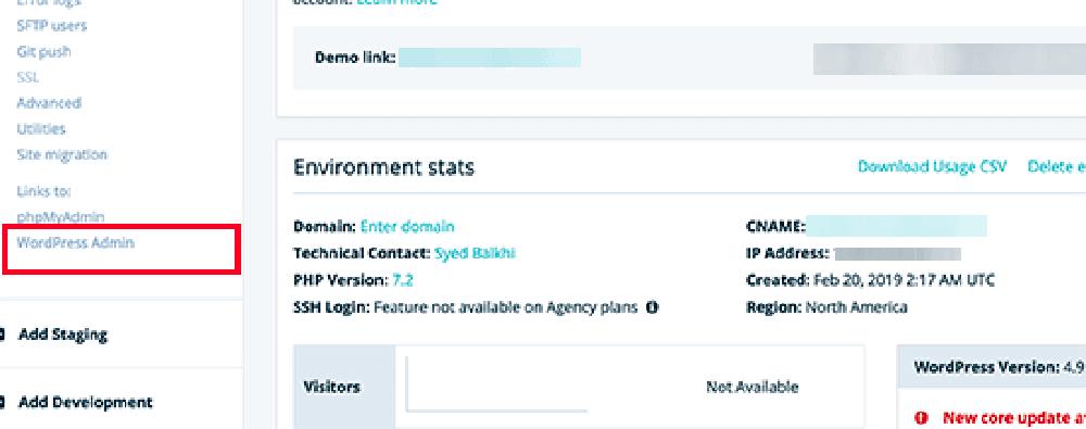 wpengine后台wordpress创建成功