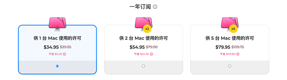 CleanMyMac X一年订阅